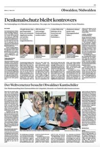 Artikel Humboldt Obwaldner Zeitung