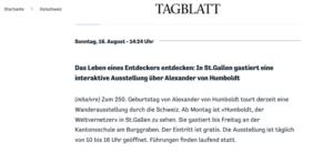 Artikel St.Galler Tagblatt